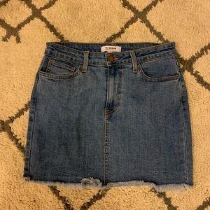 Stretchy denim mini skirt from Lulus